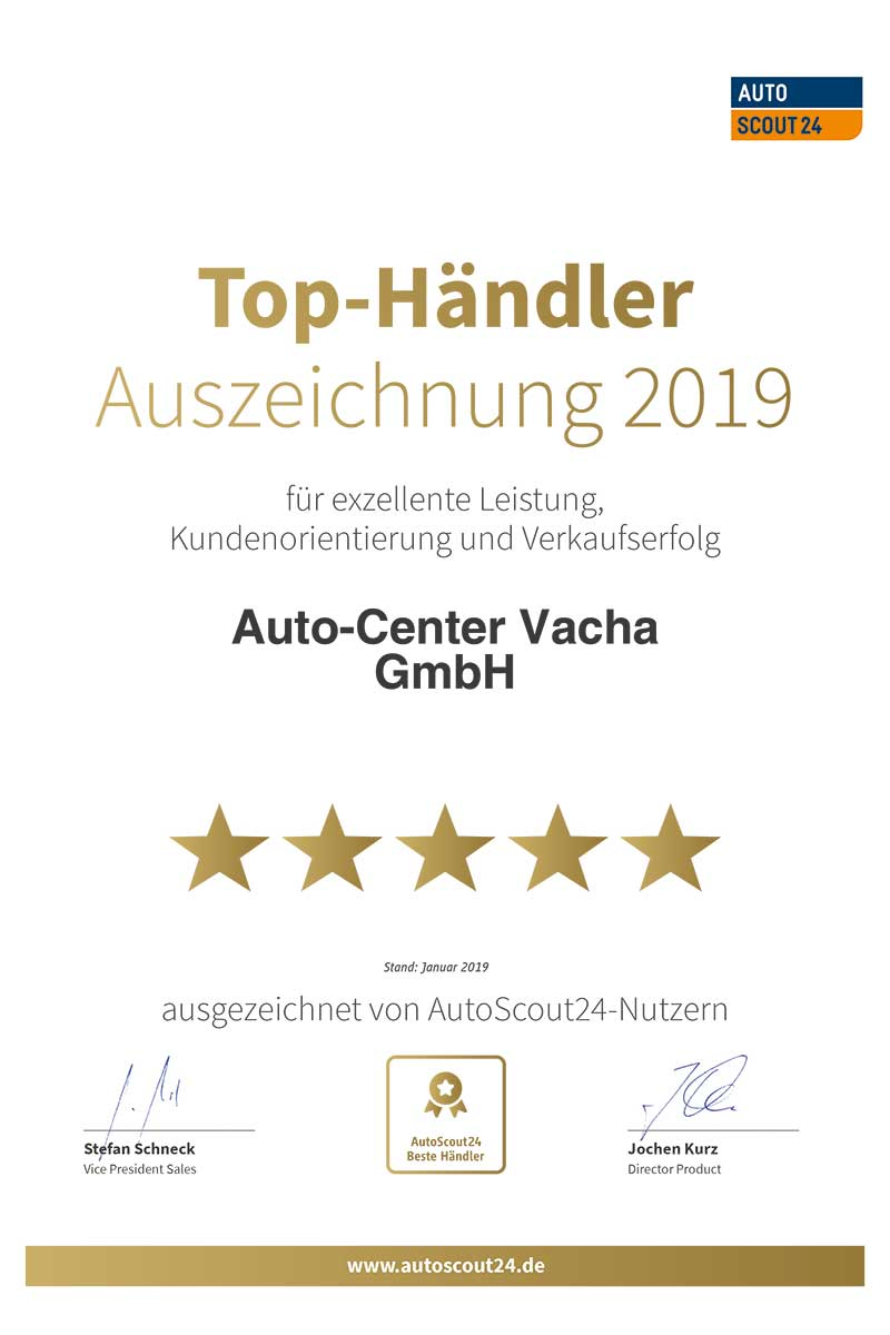 Auto-Center Vacha | Autoscout24 Urkunde